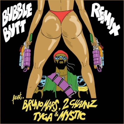 MAJOR LAZER Feat BRUNO MARS, 2 CHANINZ, TYGA & MYSTIC‎–Bubble Butt Remix (SP)